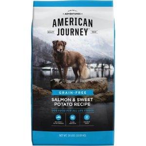American JourneySalmon & Sweet Potato Recipe Grain-Free Dry Dog Food, 24-lb bag - Chewy.com