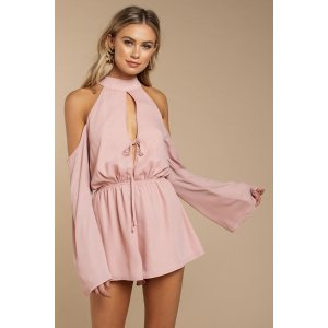 Song For You Cold Shoulder Romper