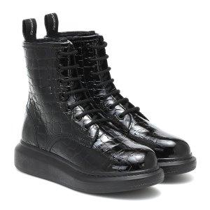 Alexander McQueen压纹马丁靴
