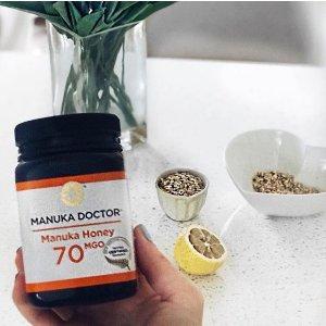 3折起 30MGO蜂蜜2瓶£14.99Manuka Doctor官网 蜂蜜养胃、护肤美颜佳品热卖