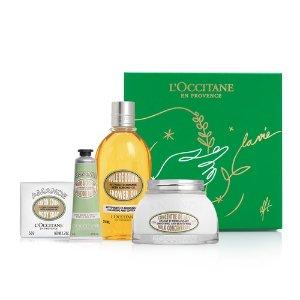 L'Occitane拒绝干燥脱皮,价值$112杏仁油4件套