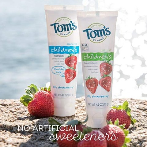 As low as $10.17Tom's of Maine Natural Fluoride Free Children's Toothpaste, Silly Strawberry, 4.2 Ounce, 3 Count