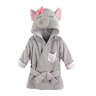 Amazon Hudson Baby Animal Face Hooded Bathrobe, Pretty Elephant, 0-9 Months
