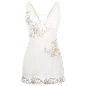 LA PERLA 白色吊带裙