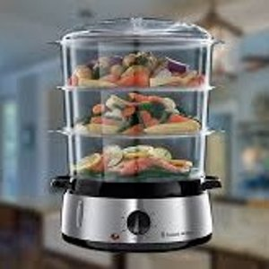 折后€34.99 健康美味Russell Hobbs 三层电蒸锅热促 锁住食材本身的鲜美
