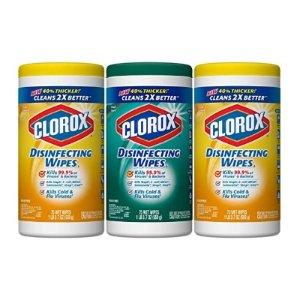 Clorox 消毒抗菌+微细刷湿巾超值套装 3个装共225片