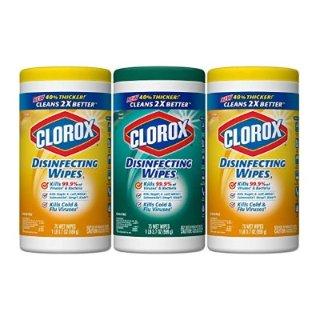 $6.99 销量冠军Clorox 消毒抗菌+微细刷湿巾超值套装 3个装共225片