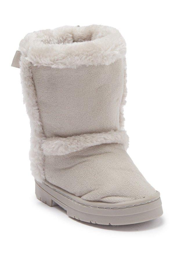 Microsuede Faux 童款雪地靴