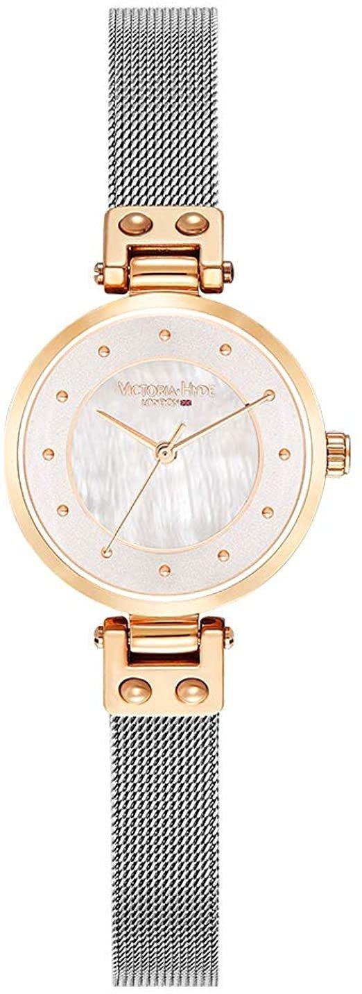 玫瑰金/银表带腕表