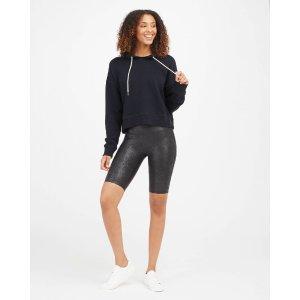 Spanx皮质自行车裤