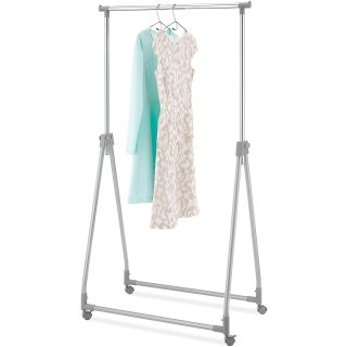 $16.4Whitmor Foldable Garment Rack - Rolling Clothes Hanger - Adjustable Height