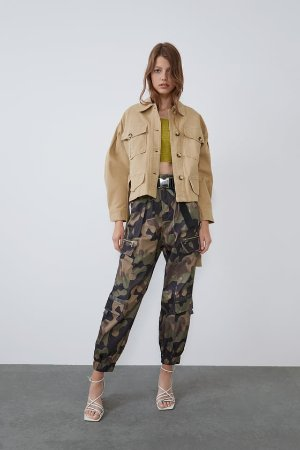 BELTED JACKET WITH POCKETS - View all-PANTS-WOMAN | ZARA United States