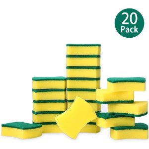 esonmus 20 Pack Multi-Use Heavy Duty Scrub Sponge