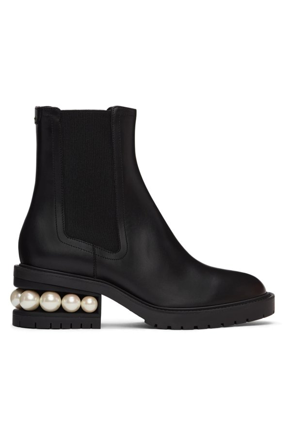 珍珠切尔西靴