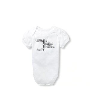 158e97610 The Children's PlaceBaby Girls Matching Family Short Sleeve Foil Baby  Definition Graphic Bodysuit