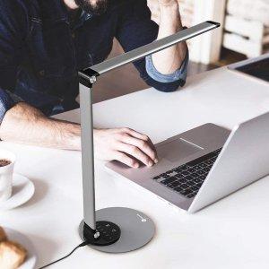 折后仅€34.99 亮度色温可调TaoTronics LED 护眼台灯热促 超薄可折叠 现代简约风