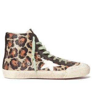 $378(原价$630)超值价入手Golden Goose 新款豹纹星星高帮小脏鞋
