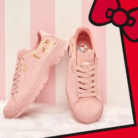 低至5折+额外6折 $34收蝴蝶结小白鞋Puma 男女运动鞋特卖 Hello Kitty联名款打折啦