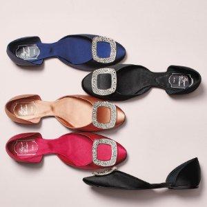 平底钻扣芭蕾鞋