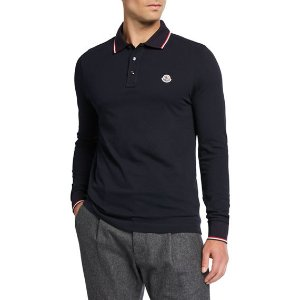 MonclerA $490 Value Gift Men's Long-Sleeve Polo Shirt