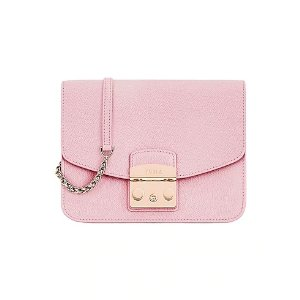 Furla粉色盒子包
