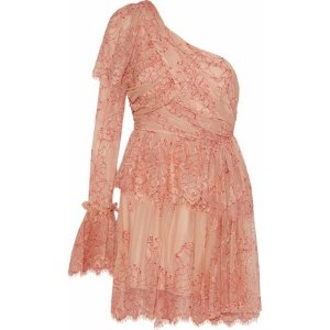 Alice McCallLovely one-shoulder lace mini dress