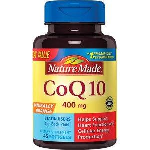 Nature Made CoQ10 400mg Softgels Value Size, 45ct - Walmart.com