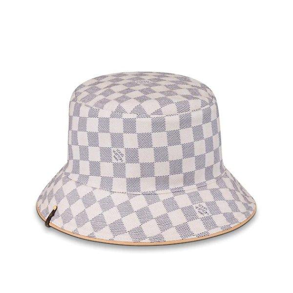 棋盘格渔夫帽