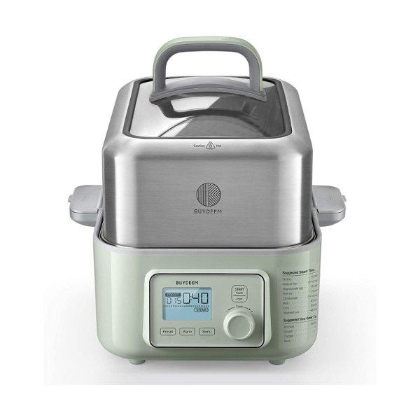 多功能蒸炖锅电蒸锅 G563 智能预约 可蒸可炖上汽快 #浅杉绿 - 亚米网