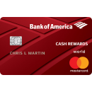 $150 online cash rewards bonus offer Bank of America® Cash Rewards credit card