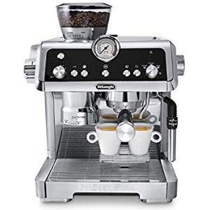 Amazon.com: De'Longhi La Specialista Espresso Machine with Sensor Grinder, Dual Heating System, Advanced Latte System & Hot Water Spout for Americano Coffee or Tea, Stainless Steel, EC9335M: Kitchen & Dining