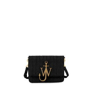 JW AndersonMini Raffia Shoulder Bag with Anchor Logo