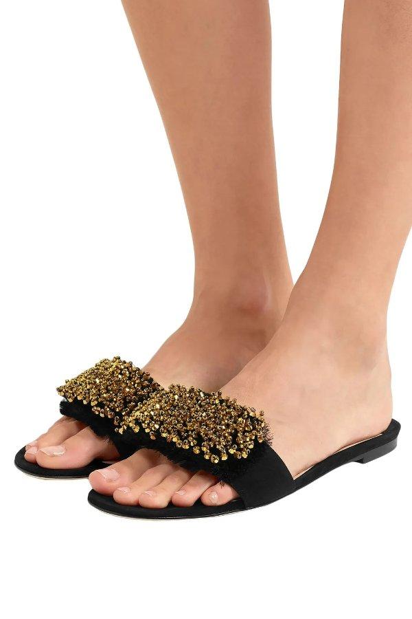 Waida fringed 拖鞋
