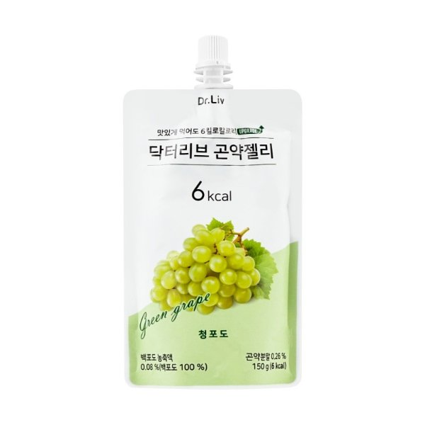 DR.LIV 低糖低卡蒟蒻果冻 绿葡萄味 150g - 亚米网