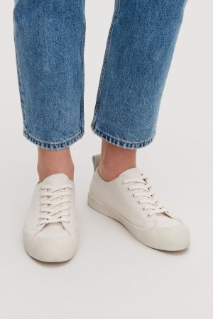 LACE-UP CANVAS SNEAKERS  - Off-white - Sneakers - COS