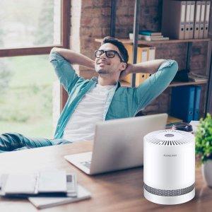 $60.79(原价$75.99)RIGOGLIOSO GL-2109 便携式低噪声空气净化器 带HEPA过滤器