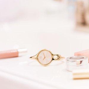 $55 (原价$379)Calvin Klein Air 系列手镯式镀金时装女表