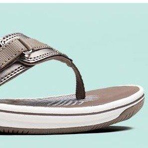 $18.04起(原价$55) 不同码不同价Clarks  女士沙滩鞋热卖 全5星好评