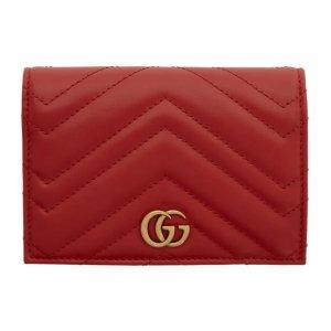 GucciGG Marmont 2.0 红色护照夹
