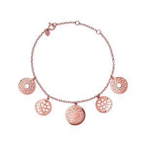 Links of LondonTimeless 18kt Rose Gold Vermeil Coin Bracelet