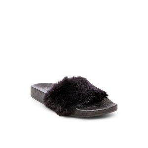 平底毛毛拖鞋