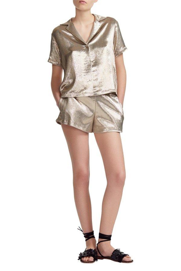 Pajama Style 丝质短裤