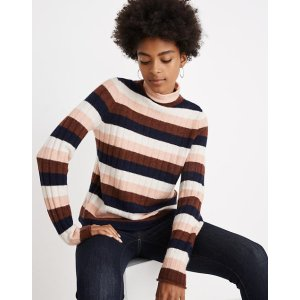 MadewellStriped Evercrest Turtleneck Sweater in Coziest Yarn