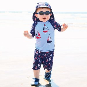 43838adef1 JoJo Maman BebeBoat 2-Piece Sun Protection Suit Duck 1-Piece Sun Protection  Suit