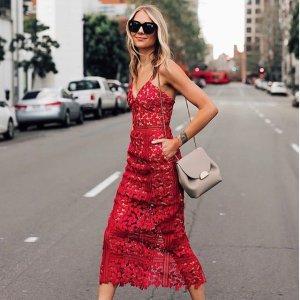 低至4折 收网红款复古泳衣 超显瘦Self-Portrait 美衣专场 法式浪漫蕾丝仙女美衣裙$181起