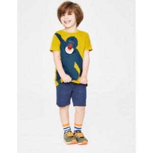 BodenAnimal Applique T-Shirt - Mimosa Yellow Ape | Boden US