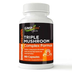 Buy 1 Get 1 Free +  Up to 20% offGMP Vitas® Triple Mushroom Complex Formula 60 Capsules