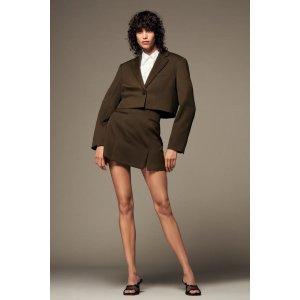 Zara短款西装