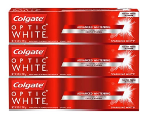 $8.99Colgate Optic White Whitening Sparkling Mint Toothpaste, 5 Ounce, 3 Count