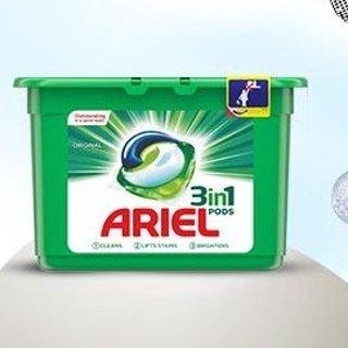 低至4.6折 £18.00 囤114粒装Ariel 洗衣液 洗衣球 超值热促